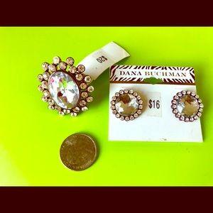 Dana Buchman adjustable ring & earring set
